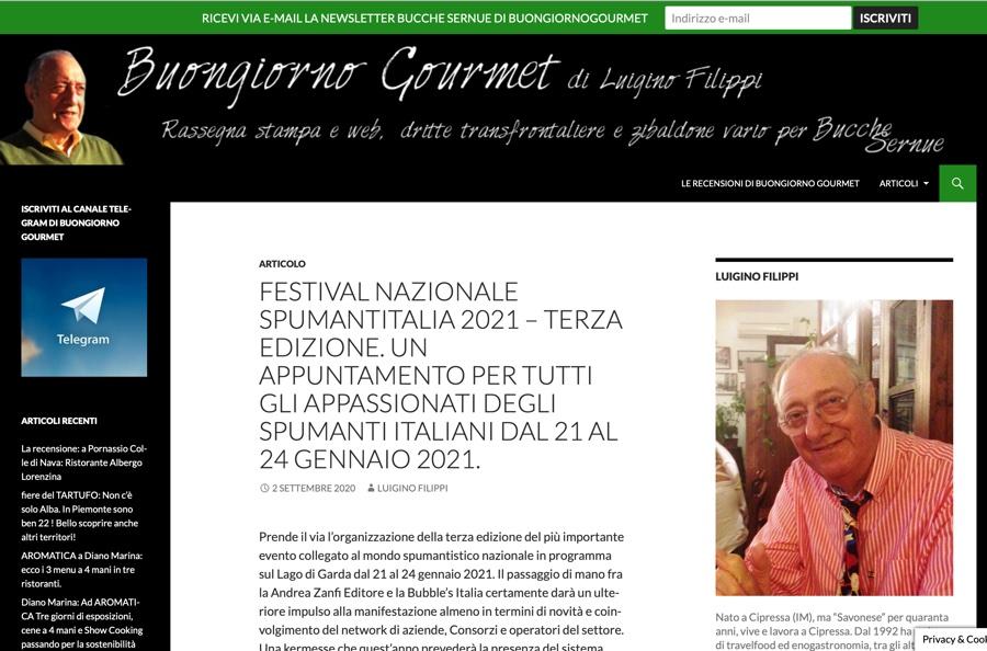 BUONGIORNO GOURMET: Un appuntamento per tutti gli appassionati degli spumanti