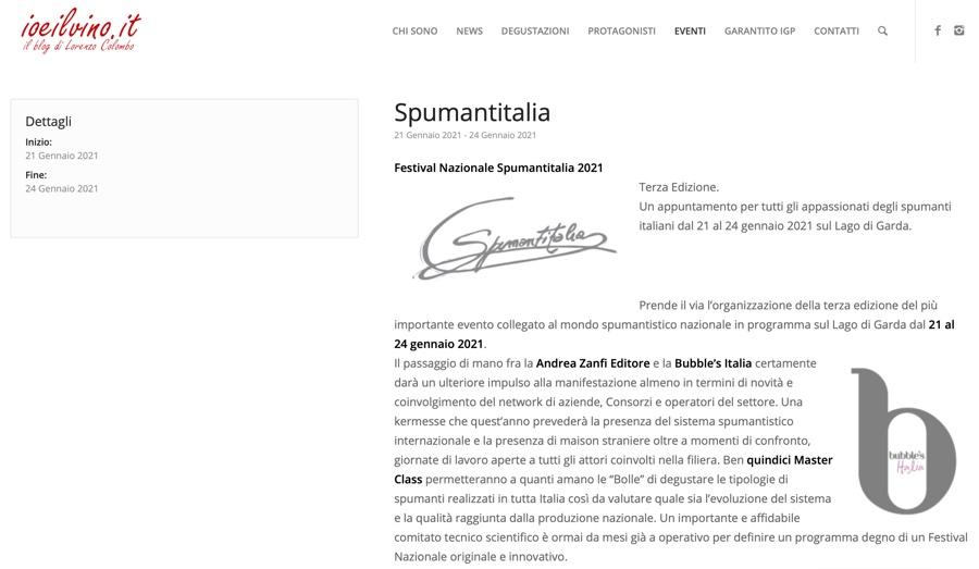 IOEILVINO.IT: Festival Nazionale Spumantitalia 2021