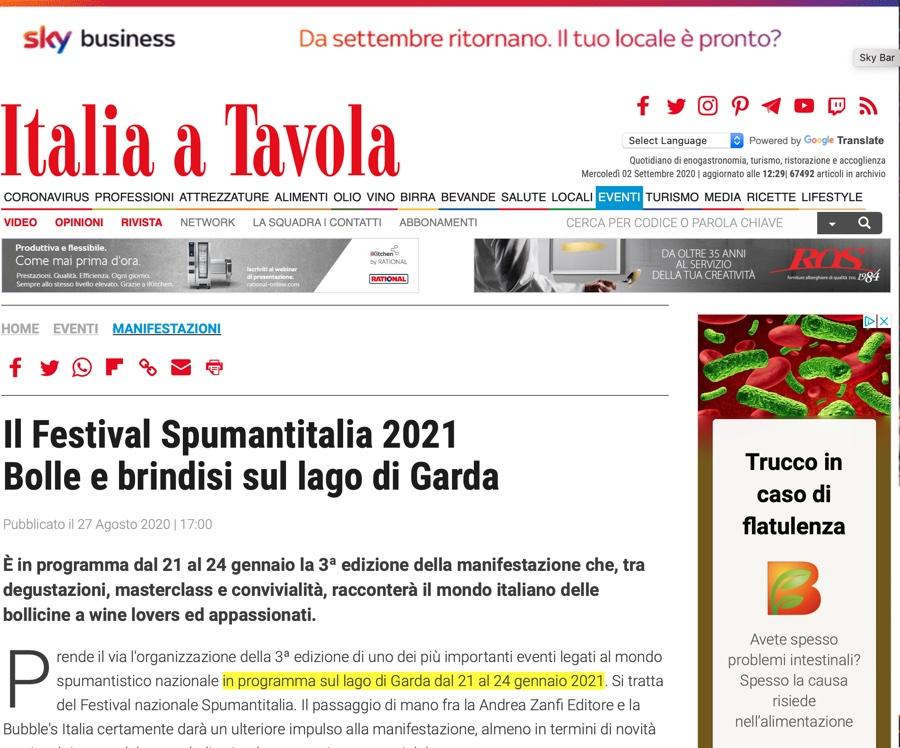 ITALIA A TAVOLA: Bolle e brindisi sul lago di Garda