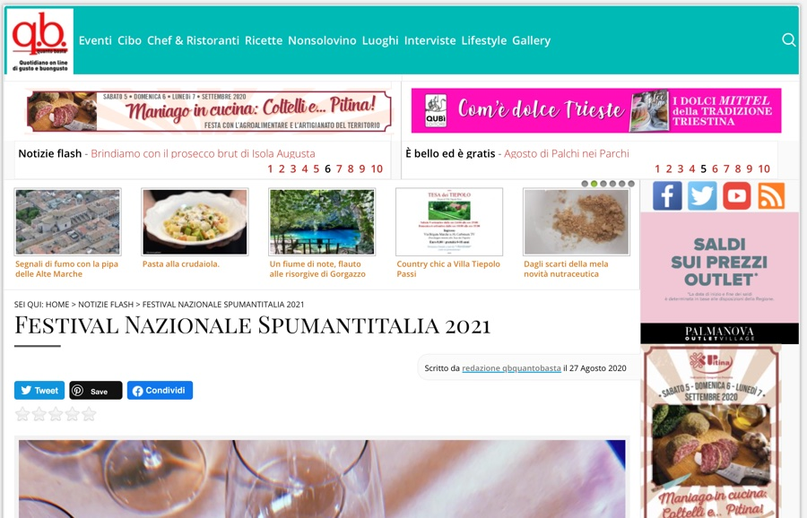 QB QUANTOBASTA: Festival Nazionale Spumantitalia 2021