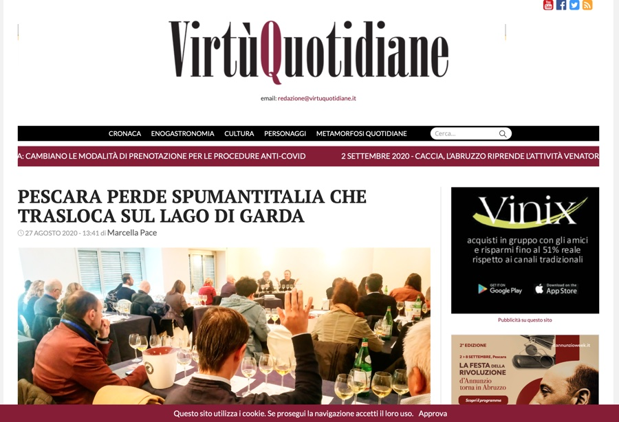 VIRTù QUOTIDIANE: Pescara perde SpumantItalia