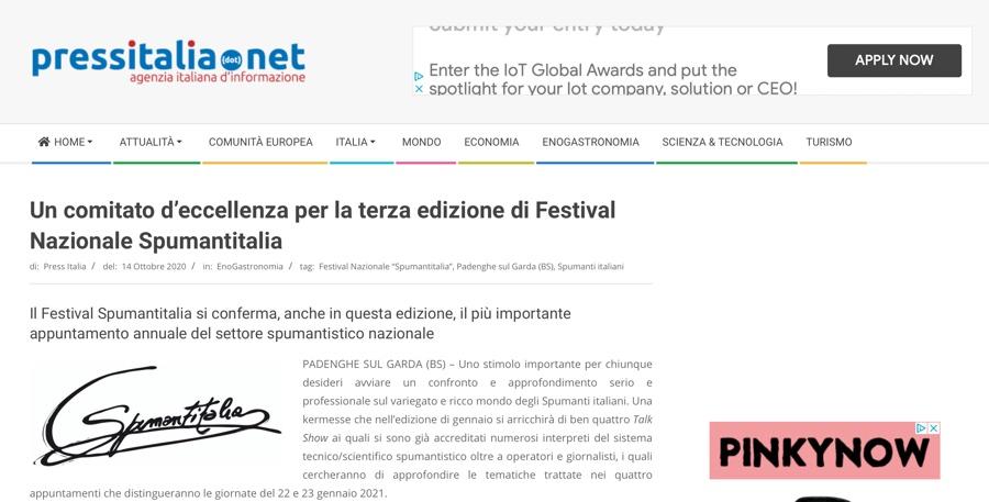PRESSITALIA.NET: Un comitato d'eccellenza per la terza edizione di Festival Nazionale Spumantitalia