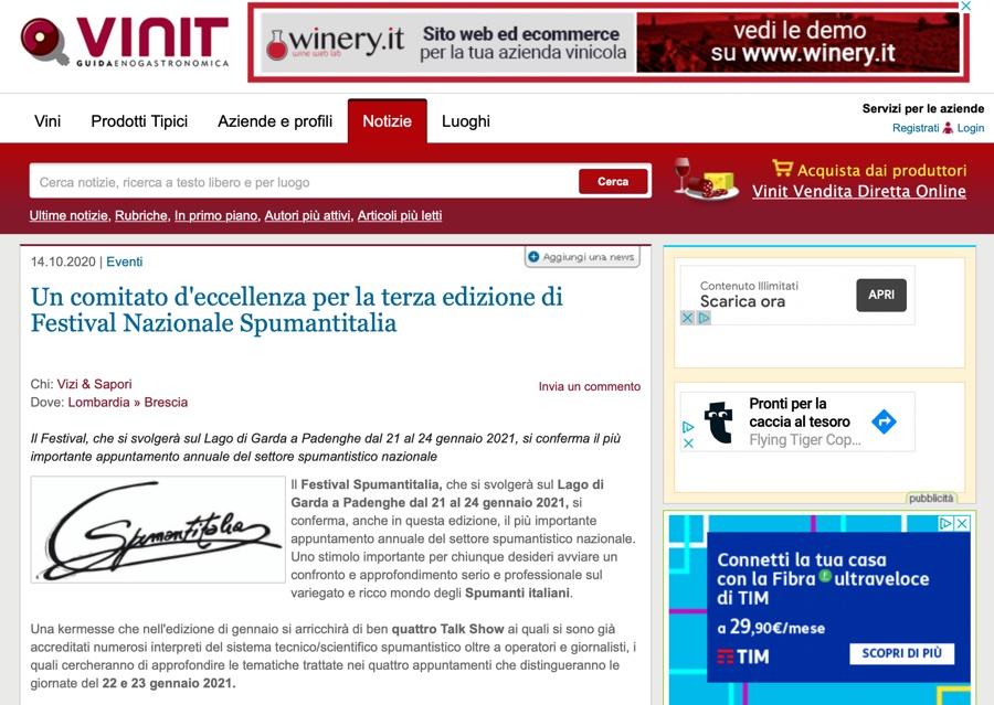 VINIT.NET: Un comitato d'eccellenza per la terza edizione di Festival Nazionale Spumantitalia