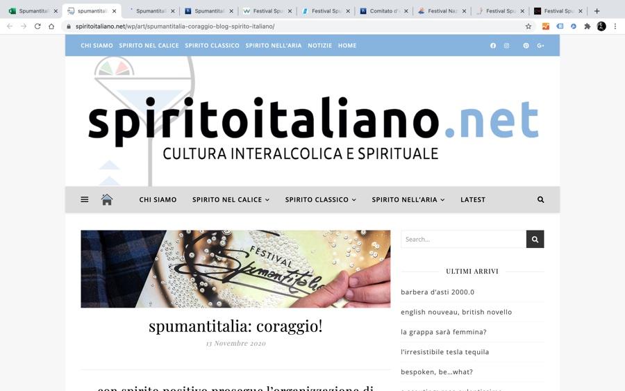SPIRTOITALIANO.NET: Spumantitalia: coraggio!