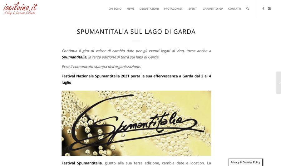 IO E IL VINO: Spumantitalia sul lago di Garda