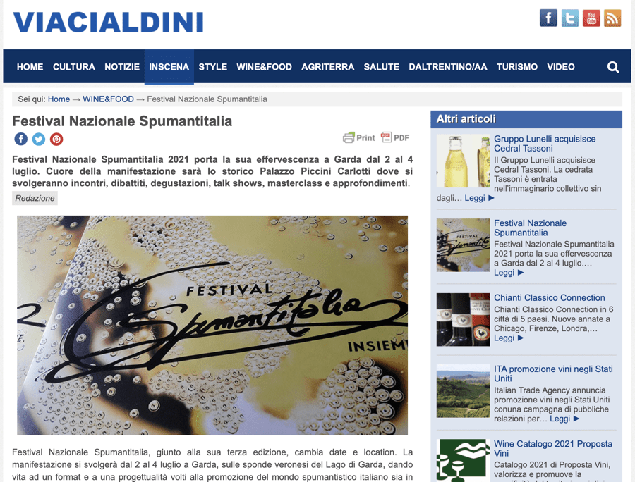 VIACIALDINI: Festival Nazionale Spumantitalia