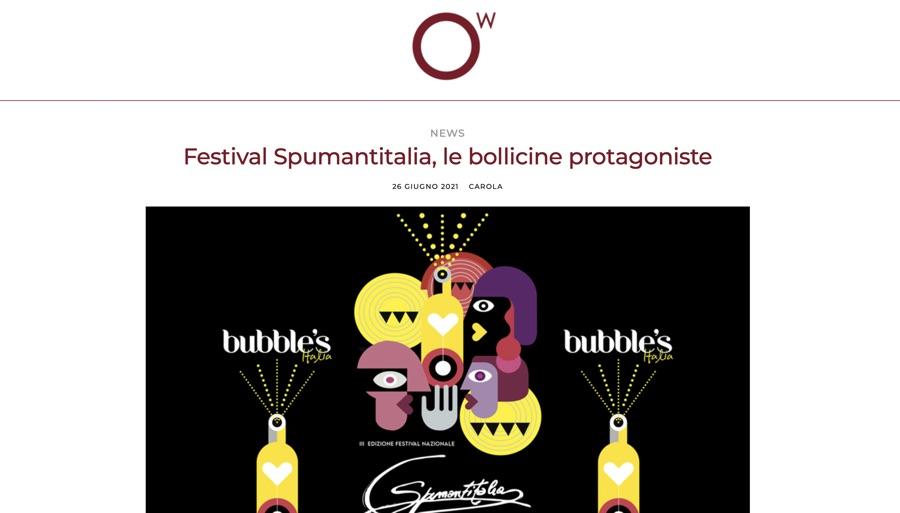 OscarWine: Festival Spumantitalia, le bollicine protagoniste
