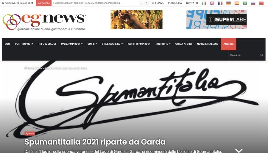 EGNEWS: Spumantitalia 2021 riparte da Garda