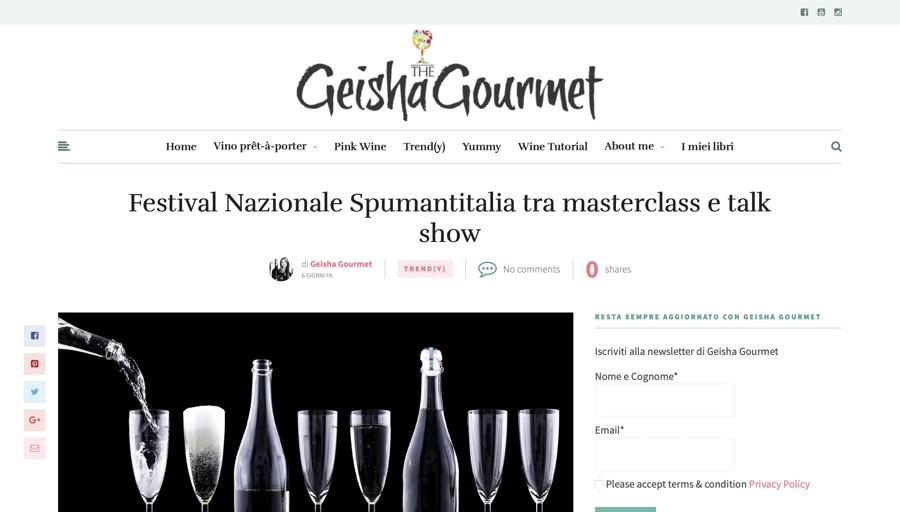 GEISHA GOURMET: Festival Nazionale Spumantitalia tra masterclass e talk show