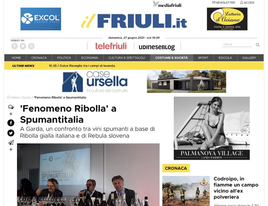 ilFriuli.it: 'Fenomeno Ribolla' a Spumantitalia