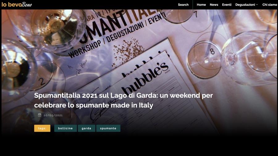 IO BEVO BENE: Spumantitalia 2021 sul Lago di Garda: un weekend per celebrare lo spumante made in Italy