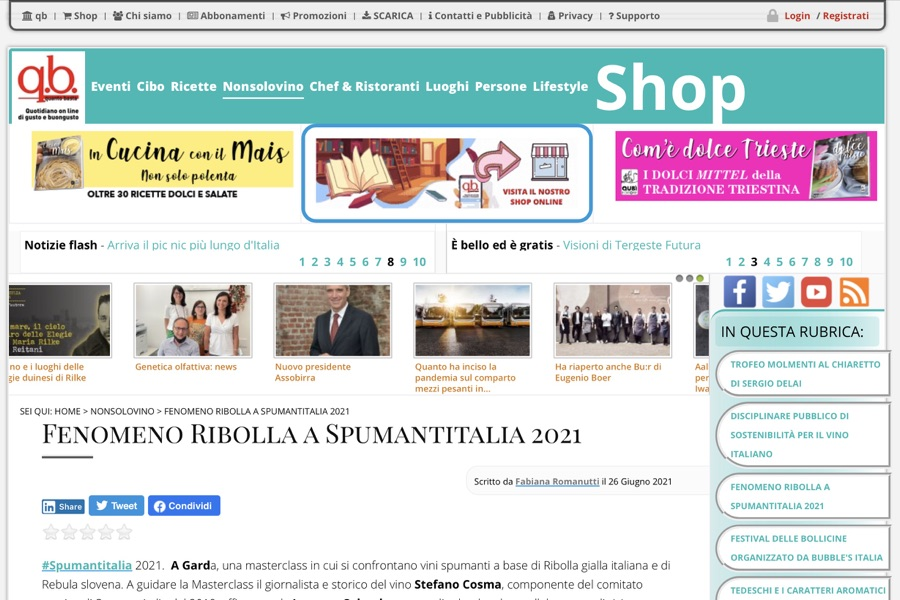 Quantobasta.it: Fenomeno Ribolla a Spumantitalia 2021