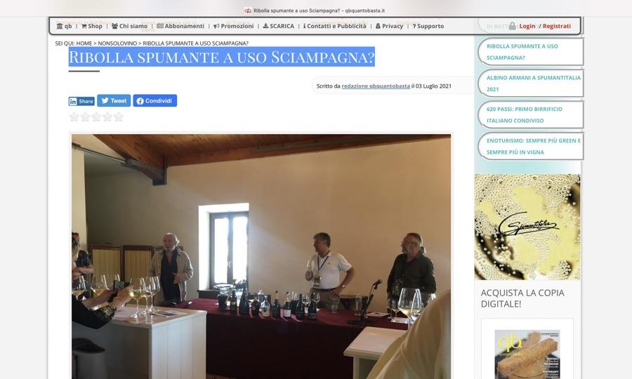 Quantobasta.it: Ribolla spumante a uso Sciampagna?